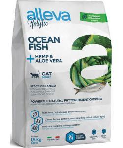 Holistic Cat сухой корм для взрослых кошек с океанической рыбой, коноплей и алоэ вера Adult Ocean Fish + Hemp & Aloe vera