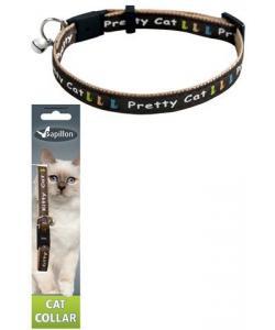 """Ошейник для кошек """"Китти"""" 10мм*21-33см, коричневый"""