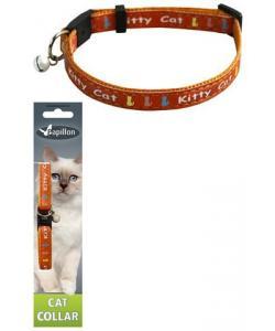 """Ошейник для кошек """"Китти"""" 10мм*21-33см, оранжевый"""