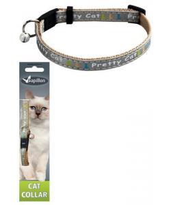 """Ошейник для кошек """"Китти"""" 10мм*21-33см, серый"""