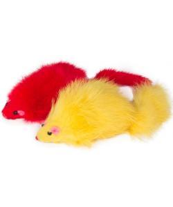 """Игрушка для кошек """"Мышь цветная"""", 9-10см, 2шт. (M004NC)"""