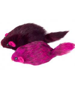 """Игрушка для кошек """"Мышь цветная"""", 7-7,5см, 3шт. (M003NC)"""