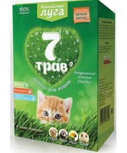 """Альпийские луга Травка """"7 трав"""" для кошек (лоток), набор для проращивания"""