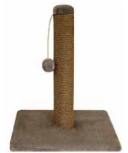 Стойка №2 с игрушкой, джут, однотонный мех 35*35*45 см (Щг-15200)
