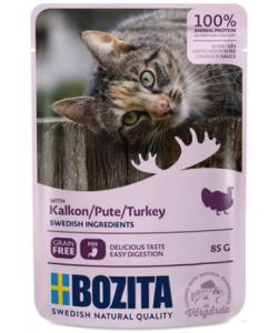 Кусочки в соусе с индейкой для кошек