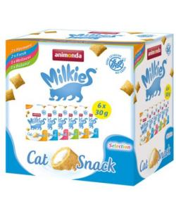 Лакомство для кошек Milkies хрустящие подушечки, набор из 4 видов