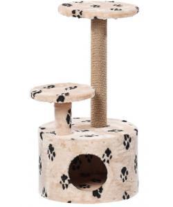 Домик для кошек меховой «Круглый со ступенькой» 42*80 см, джут