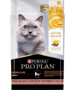 Сухой корм для кошек Nature Elements красивая шерсть и здоровая кожа, с лососем