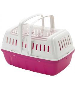 Переноска-корзинка Hipster большая 40x26x23 см, ярко-розовый (для питомцев до 4кг)