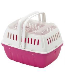 Переноска-корзинка Hipster малая 17x23x16 см, ярко-розовый (для питомцев до 2кг)