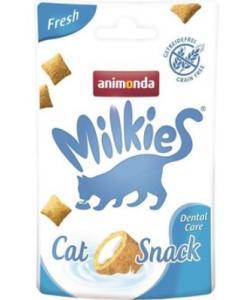 Лакомство для кошек  Milkies crunchy pillows Fresh хрустящие подушечки для заботы о полости рта