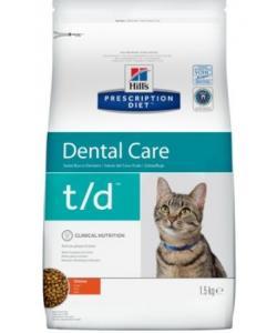 T/D Для кошек поддержание здоровья ротовой полости t/d Dental Care