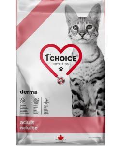 Беззерновой корм для кошек с чувствительной кожей GF Derma, лосось