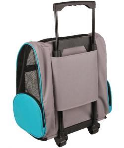 Сумка-рюкзак для животных на колесах TIRZA, 38*26*46см, черно-синий