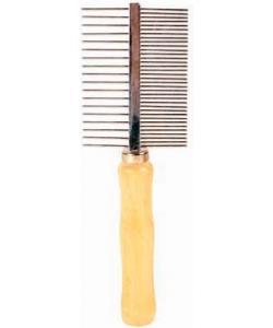 Расческа с деревянной ручкой, 18 см  (2396)