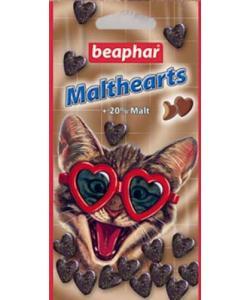 """Лакомство """"Сердечки"""" для вывода шерсти (Malt Hearts + 20 % malt), 150шт."""