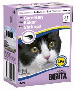 Кусочки в СОУСЕ для кошек с креветками (Shrimps)