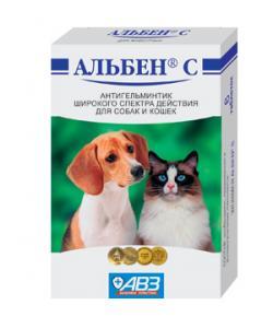 Альбен С От глистов для собак и кошек, 6таб.