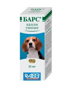 Барс Капли ушные инсектоакарицидные для собак и кошек