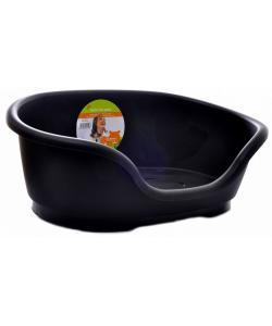 Лежак domus пластиковый 110см, черный